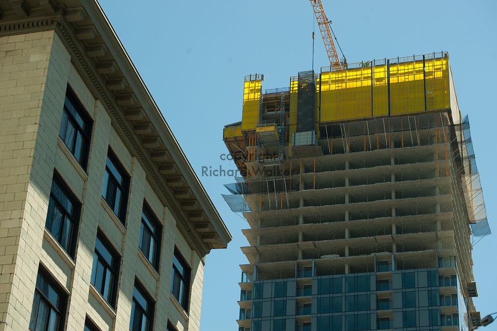 2017 JULY 25 - Construction in downtown Seattle, WA, USA. By Richard Walker