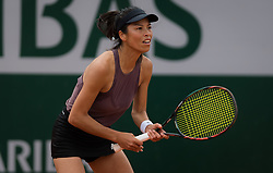 May 30, 2019 - Paris, FRANCE - Su-Wei Hsieh of Chinese Taipeh in action during her second-round match at the 2019 Roland Garros Grand Slam tennis tournament (Credit Image: © AFP7 via ZUMA Wire)
