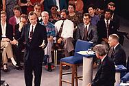 The Bush Perot Clinton Debate in Richmond, vA on October 15, 1992<br />Photo by Dennis Brack