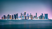 Doha Skyline at Dusk - Qatar