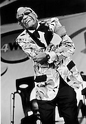 Ray Charles, New Orleans Jazz and Heritage Festival 1997. Photo by Dick Waterman