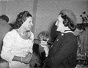 24/09/1958<br /> 09/24/1958<br /> 24 September 1958<br /> Opening of Le Pompadour Salon by Lord Mayor Catherine Byrne, for Mr. Victor Vinmar at 6 Upper Fitzwilliam Street, Dublin.