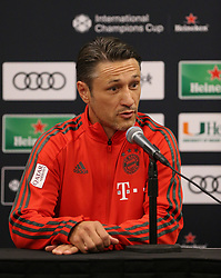 July 27, 2018 - Miami Gardens, Florida, USA - FC Bayern head coach NIKO KOVAC talks to the media during a press conference before a practice session, in preparation for an International Champions Cup match against Manchester City at the Hard Rock Stadium in Miami Gardens, Florida. (Credit Image: © Mario Houben via ZUMA Wire)