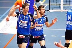 20150501 BEL: Volley Behappy2 Asse-Lennik - Knack Roeselare, Zellik<br />Joppe Paulides (3) of Knack Volley Roeselare, Ruben van Hirtum (12) of Knack Volley Roeselare<br />©2014-FotoHoogendoorn.nl / Pim Waslander