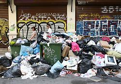 June 26, 2017 - Thessaloniki, Greece - Piles of garbage in Thessaloniki as cleaning workers  are on  strike in Greece, June 26, 2017  (Credit Image: © Grigoris Siamidis/NurPhoto via ZUMA Press)