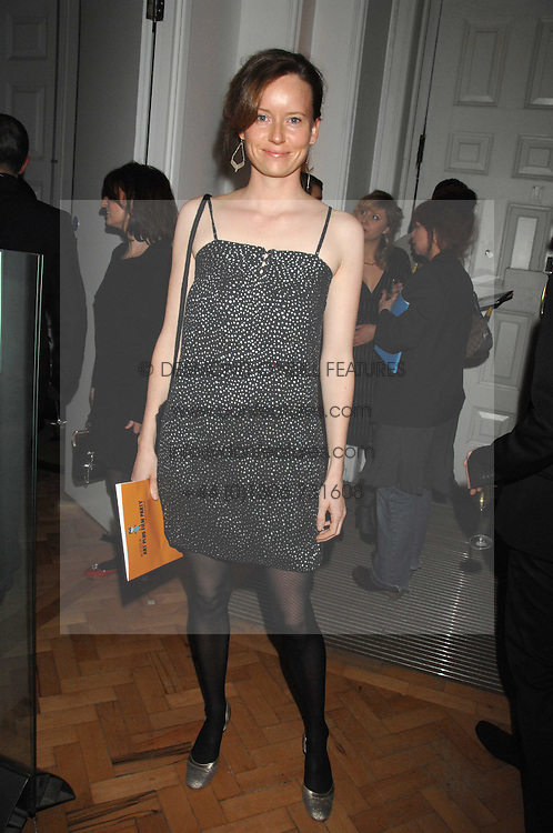 Actress CHARLOTTE ASPREY at the TOD's Art Plus Film Party 2008 hosted by The Whitechapel Art Gallery at a former church at 1 Marylebone Road, London NW1 on 6th March 2008.<br /><br />NON EXCLUSIVE - WORLD RIGHTS