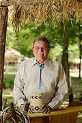 Photo of Cherokee Nation Deputy Chief Joe Crittenden for Oklahoma Living Magazine taken at Cherokee National Heritage Museum.