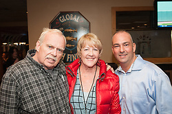 Selectman John Hall, Ellie Johnson, Police Chief Phil Tavares helped with the Blizzard Relief Benefit.
