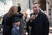 ANTONY VON HOFMANNSTHAL,BARNEY WAN<br /> , Service of thanksgiving for  Lord Snowdon, St. Margaret's Westminster. London. 7 April 2017
