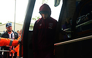 Marko Arnautovic of West Ham arrives at The Hawthorns. Premier league match, West Bromwich Albion v West Ham United at the Hawthorns stadium in West Bromwich, Midlands on Saturday 16th September 2017. pic by Bradley Collyer, Andrew Orchard sports photography.