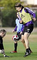 Fotball / Football<br /> Belgia / Belgium<br /> Anderlecht training at La Manga - Spain<br /> 04.01.2007<br /> Photo: Morten Olsen, Digitalsport<br /> <br /> Nicolas Frutos