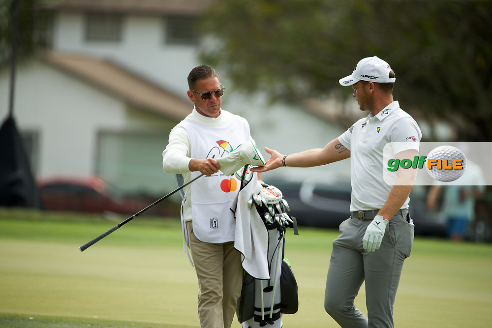 Danny Willett (ENG) and coach Sean Foley who was caddying during the final round of the Arnold Palmer Invitational presented by Mastercard, Bay Hill, Orlando, Florida, USA. 08/03/2020.<br /> Picture: Golffile   Scott Halleran<br /> <br /> <br /> All photo usage must carry mandatory copyright credit (© Golffile   Scott Halleran)