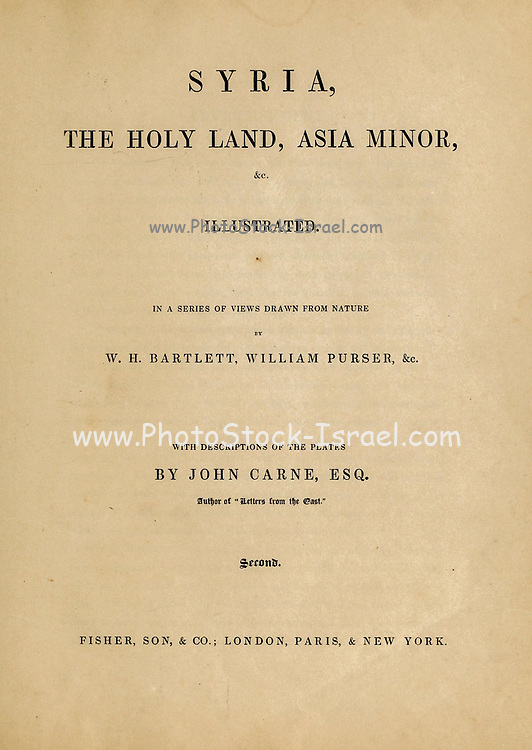 from Volume 2 of Syria, the Holy Land, Asia Minor, &c. by Carne, John, 1789-1844; Illustrated by Bartlett, W. H. (William Henry), 1809-1854, and Allom, Thomas, 1804-1872 Published in London in 1837