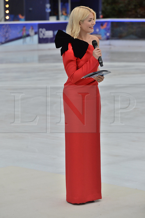 © Licensed to London News Pictures. 18/12/2018. London, UK. Holly Willoughby and Phillip Schofield attends a photocall for the launch of ITV's Dancing On Ice new series. Photo credit: Ray Tang/LNP