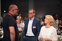 DEU, Deutschland, Germany, Berlin, 01.06.2018: Landesparteitag der Berliner SPD im Hotel Andels. V.l.n.r. Jan Stöss, Michael Müller, Barbara Loth.