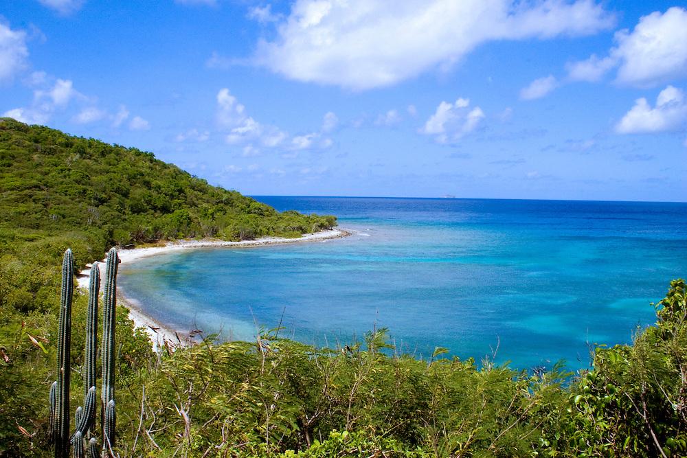 View of Fish Bay and Rendezvous Beach, St John U.S. Virgin Islands