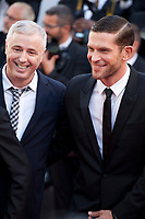 Director Robin Campillo and Actor Arnaud Valois at the 120 Beats per Minute (120 Battements Par Minute) gala screening,  at the 70th Cannes Film Festival Saturday 20th May 2017, Cannes, France. Photo credit: Doreen Kennedy