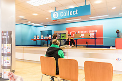 The collection counter inside an Argos store. UK