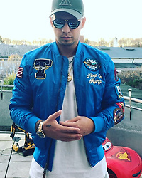 """Pietro Lombardi releases a photo on Instagram with the following caption: """"\u2757\ufe0f\u2757\ufe0fLOMBARDI MEDLEY \u2757\ufe0f\u2757\ufe0f SENORITA \ud83d\ude4f\nPH\u00c4NOMENAL \ud83e\udd19\nNUR EIN TANZ \u2764\ufe0f\n#jacke ist von @topgunfashion"""". Photo Credit: Instagram *** No USA Distribution *** For Editorial Use Only *** Not to be Published in Books or Photo Books ***  Please note: Fees charged by the agency are for the agency's services only, and do not, nor are they intended to, convey to the user any ownership of Copyright or License in the material. The agency does not claim any ownership including but not limited to Copyright or License in the attached material. By publishing this material you expressly agree to indemnify and to hold the agency and its directors, shareholders and employees harmless from any loss, claims, damages, demands, expenses (including legal fees), or any causes of action or allegation against the agency arising out of or connected in any way with publication of the material."""