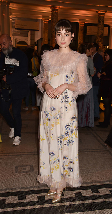 Elise Chappell at Fashioned From Nature held at The V&A Museum, London, England. 18 April 2018.
