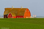 Red barn near Westby, Montana, USA