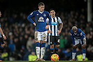 Ross Barkley (Everton) about to take the penalty to make it 2-0 to Everton during the Barclays Premier League match between Everton and Newcastle United at Goodison Park, Liverpool, England on 3 February 2016. Photo by Mark P Doherty.