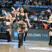 Efes Pilsen's show girls during their Turkish Airlines Euroleague Basketball Top 16 Group G Game 6 match Efes Pilsen between Partizan at Sinan Erdem Arena in Istanbul, Turkey, Thursday, March 03, 2011. Photo by TURKPIX
