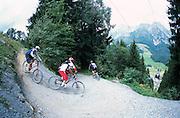 rob jarman and ross tricker ride Leogang freeride bikepark, Austria. 2002