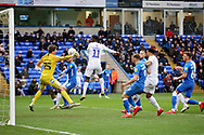 Peterborough Utd goalkeeper Conor O'Malley (25) during the EFL Sky Bet League 1 match between Peterborough United and Coventry City at London Road, Peterborough, England on 16 March 2019.