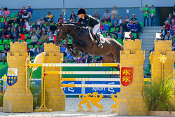 Jillian Terceira, (BER), Tamerino - First Round Team Competition Jumping Speed - Alltech FEI World Equestrian Gamesô 2014 - Normandy, France.<br /> © Hippo Foto Team - Leanjo De Koster<br /> 03-09-14