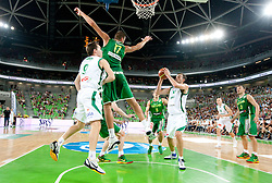 Mirza Begic of Slovenia during friendly match before Eurobasket Lithuania 2011 between National teams of Slovenia and Lithuania, on August 24, 2011, in Arena Stozice, Ljubljana, Slovenia. Slovenia defeated Lithuania 88-66. (Photo by Vid Ponikvar / Sportida)