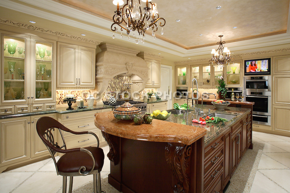 Large Custom Kitchen Interior Design