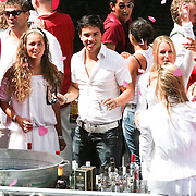 NLD/Amsterdam/20080802 - Canal Parade 2008 Amsterdam, boot Jantjes verjaardag en Fata Morgana, Jordy The