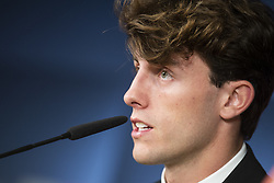 July 18, 2018 - Madrid, Spain - Alvaro Odriozola during the press conference of his presentation as new Real Madrid player at Santiago Bernabéu Stadium in Madrid, Spain. July 18, 2018. (Credit Image: © Coolmedia/NurPhoto via ZUMA Press)