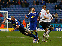 Photo: Steve Bond/Sportsbeat Images.<br /> Leicester City v West Bromwich Albion. Coca Cola Championship. 08/12/2007. Roman Bednar (R) nudges Patrick Kisnorbo (L) who falls under the challange