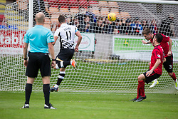 Inverness Caledonian Thistle's Iain Vigurs (11) scoring their fourth goal. Brechin City 0 v 4 Inverness Caledonian Thistle, Scottish Championship game played 26/8/2017 at Brechin City's home ground Glebe Park.