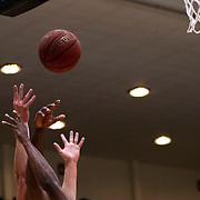 Point Loma and Biola fight for the rebound during the final of the PacWest Men's Basketball Championships in the Felix Event Center at Azusa Pacific University on Saturday, Mar. 7, 2020, in Azusa. (Mandatory Credit: Sarah Kim-Sports Shooter Academy)