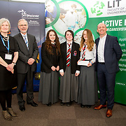 27.04.2016.          <br />  Kalin Foy and Ciara Coyle win SciFest@LIT<br /> Kalin Foy and Ciara Coyle from Colaiste Chiarain Croom to represent Limerick at Ireland's largest science competition.<br /> <br /> Coláiste Chiarain, Croom students, Yasmin Sheehan, Aisling Egan and Amanda Moloney's project Finding the Center of the Milky Way Galaxy by using and researching Globular clusters won Physical Sciences, Junior Second. Yasmin Sheehan, Aisling Egan and Amanda Moloney are pictured with George Porter, SciFest and Brian Aherne, Intel<br /> <br /> Of the over 110 projects exhibited at SciFest@LIT 2016, the top prize on the day went to Kalin Foy and Ciara Coyle from Colaiste Chiarain Croom for their project, 'To design and manufacture wireless trailer lights'. The runner-up prize went to a team from John the Baptist Community School, Hospital with their project on 'Educating the Youth of Ireland about Farm Safety'. Picture: Alan Place