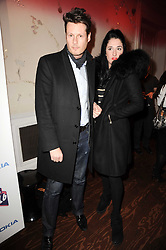 PERCY PARKER and AMY MOLYNEAUX at a party to celebrate the launch of the Nokia X6 16GB phone held at Sketch, 9 Conduit Street, London on 3rd March 2010.