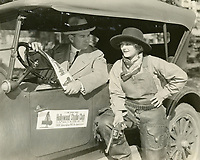 1924 Charlotte Merriam chats with Harvey E. Gausman about movie roles at the Hollywood Studio Club.