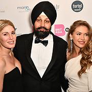 Hofit Golan, Tony Shergill and Maja Malnar attend the BritAsiaTV Presents Kuflink Punjabi Film Awards 2019 at Grosvenor House, Park Lane, London,United Kingdom. 30 March 2019