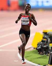 File photo dated 28-09-2019 of Kenya's Agnes Jebet Tirop competes in the Women's 10,000 metres during day two of the IAAF World Championships at The Khalifa International Stadium, Doha, Qatar. Athlete Agnes Tirop has died, Athletics Kenya has announced. Issue date: Wednesday October 13, 2021.