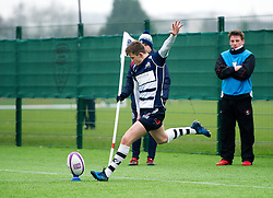 Nathan Chamberlain (SGS College) of Bristol Rugby Academy U18 kicks a conversion - Mandatory by-line: Paul Knight/JMP - 11/02/2017 - RUGBY - SGS Wise Campus - Bristol, England - Bristol Academy v Gloucester Academy - Premiership Rugby Academy U18 League