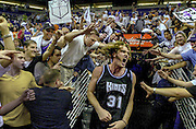 Sacramento Kings center Scot Pollard does a 360 degree twirle as he heads into the tunnel following game 4 of the Sacramento Kings - Phoenix Suns NBA Playoff game at America West Arena Wednesday night. Sacramento Bee photograph by Bryan Patrick 5/2/01