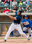 Columbia Fireflies left fielder Tim Tebow during a game at Spirit Communications Park on April 23, 2017. Photo by Jeff Blake/Jeff Blake Photography