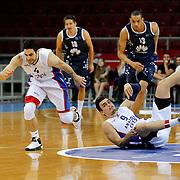 Anadolu Efes's Dogus Balbay (L) during their Turkish Basketball League Play Off round 3 match Anadolu Efes between Turk Telekom at Abdi Ipekci Arena in Istanbul Turkey on Tuesday 26 May 2015. Photo by Aykut AKICI/TURKPIX