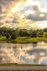 A shot from Broemmelsiek Park Lake at the intersection of Schwede and Wilson roads, off State Road DD in Wentzville (New Melle) Missouri
