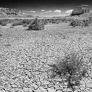 Chaco Canyon Mesa And Dry Lake Bed - New Mexico - Black & White