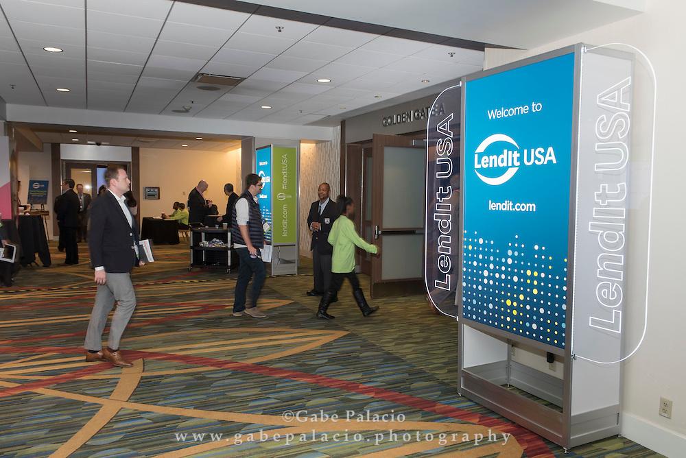 LendIt USA 2016 conference in San Francisco, California, USA on April 12, 2016. (photo by Gabe Palacio)