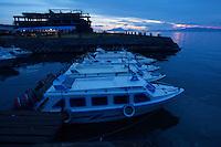 Speedboat dock in Ternate, Indonesia.